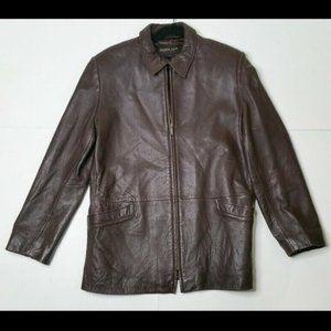 Golden Bear Large Brown SOFT Leather Jacket Coat